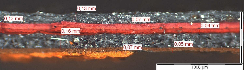 Mikroskopie einer Stahlbeschichtung